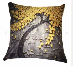Yellow tree fall color couch size pillow 17 x 17 for Sale in Lancaster, PA