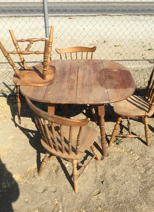 Antique Birch wood 5-piece Dinet Set for Sale in Chino, CA