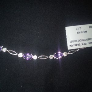 Amethyst And Diamond Tennis Bracelet for Sale in Fountain Valley, CA