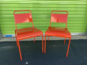Solid Metal Chairs Great Condition $20 each Chair for Sale in Lakewood, CA