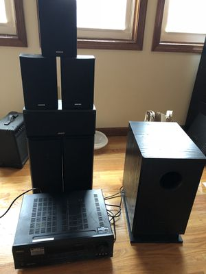 Onkyo HT-R520 6.1 surround sound with all speakers and subwoofer. for Sale in Boston, MA