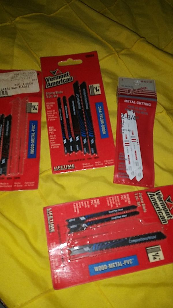 New 5 packs for 20$ jigsaw, stainless steel blades new