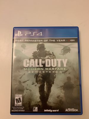 Modern Warfare Remastered PS4 for Sale in Mountain View, CA