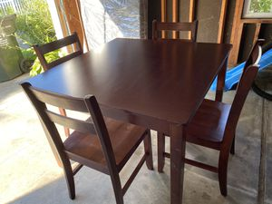 """42"""" Square Table with Chairs - MUST SELL! for Sale in Huntersville, NC"""
