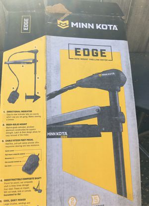 Minkotta edge trolling motor 45 lb trust used 3 times $375obo for Sale in Ripon, CA