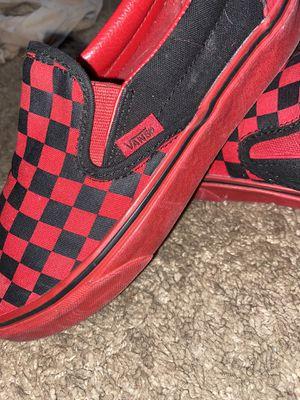 Red & black checker vans for Sale in Reynoldsburg, OH