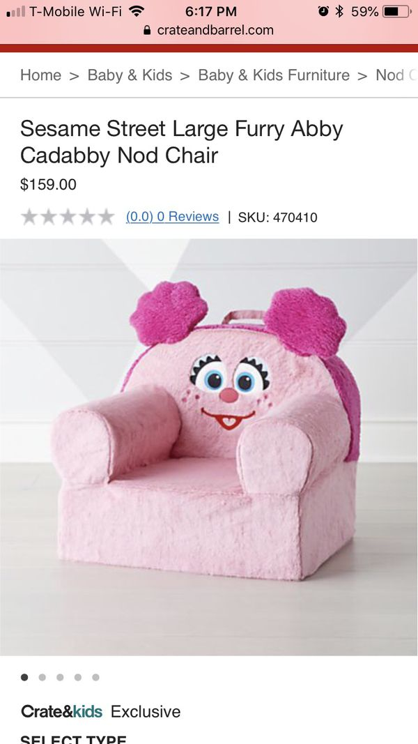 6528436aa897 Abby Cadabby Chair Create and Barrel for Sale in Queens