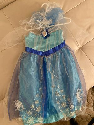 FROZEN Elsa Dress-Up Costume, Slippers, coloring book $10 for Sale in San Diego, CA