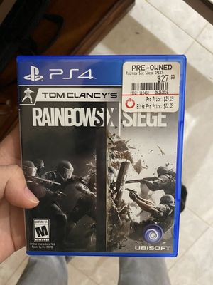 Ps4 game Rainbow Seige for Sale in Bloomfield, NJ