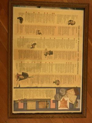 Lewis and Clark Journey poster framed for Sale in Billings, MT