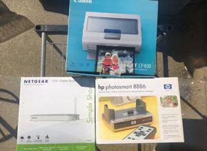 Netgear router, HP photosmart, Selphy CP400 for Sale in Clovis, CA