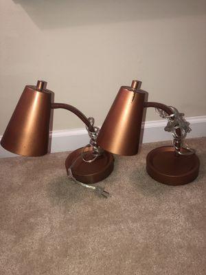 2 Small Plastic Desk Lamps for Sale in Manassas Park, VA