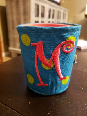"""Blue with green polka-dot """"M"""" koozie for Sale in Fort Smith, AR"""