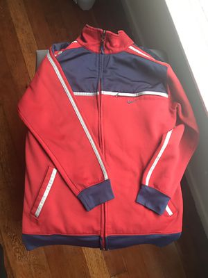 Kids Nike Track Jacket Suit Top Zip Up Sweater Red Navy Grey Pinstripes Size Large for Sale in Los Angeles, CA