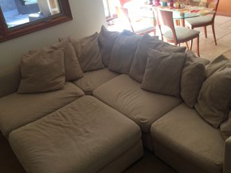 Sectional Couch With Ottoman for Sale in Solana Beach,  CA