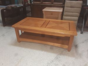 Solid wood coffee table for Sale in Bartow, FL