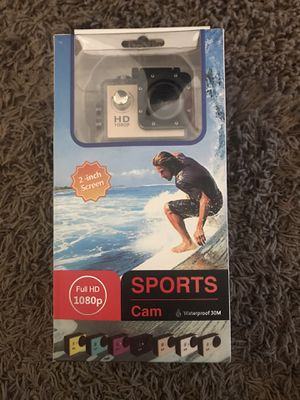 Full HD 1080p Waterproof Sports Cam. Never used. $20 for Sale in Avondale, AZ