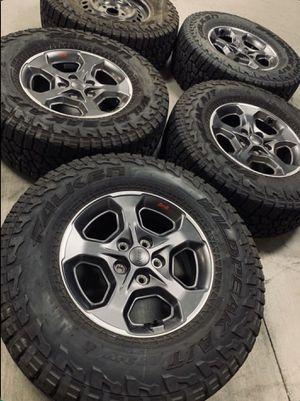 Jeep Rubicon Gladiator Wheels Rims Tires Falken Wildpeak A/T 2020 for Sale in Gardena, CA