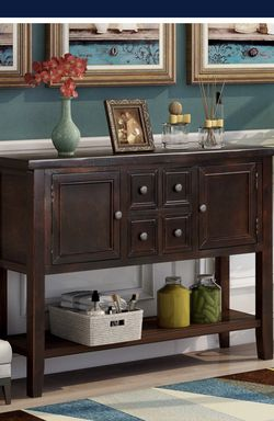 Brand new!Console Table Buffet Sideboard Sofa Table with Storage Drawers Cabinets and Bottom Shelf (Dark Espresso) for Sale in Hacienda Heights,  CA