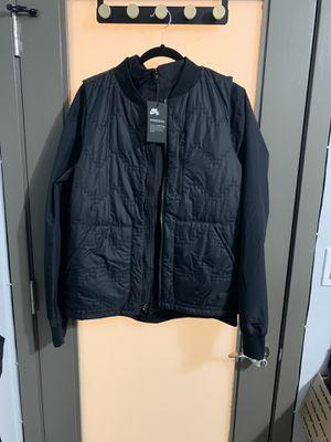 Men's Nike SB Jacket Bomber Sweater Full Zipper Black & Vest BV0975-010 Size L for Sale in Long Beach, CA