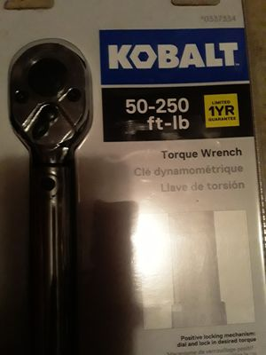 Kobalt Torque wrench 1/2 for Sale in Houston, TX