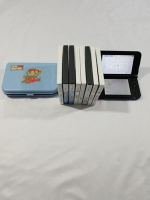 Nintendo 3DS XL Blue/Charger/no Stylus/mario carrying case/8 games/fast shipping for Sale in Winter Springs, FL