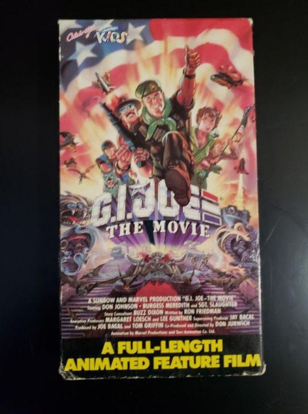 Gi Joe The Movie VHS -Cult Action Animation Don Johnson Sgt. Slaughter