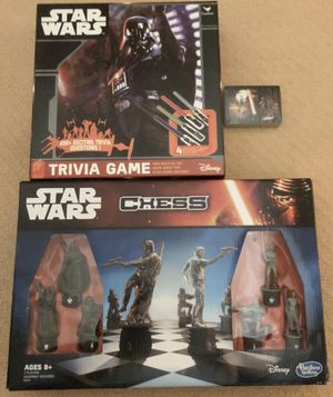 Like New-Pristine Condition! Star Wars Game Bundle: Chess, Trivia and Cards for Sale in Pembroke Pines, FL