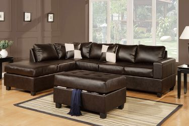 🔥New! Comfy urban sofa chaise sectional w/XL storage ottoman for Sale in San Diego,  CA