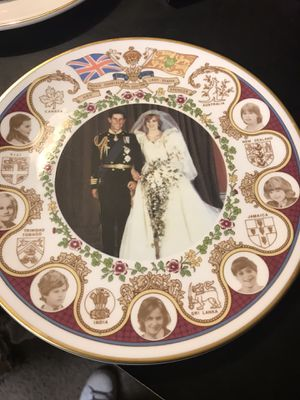 Vintage Princess Diana and Prince Charles commemorative collectors Bone China for Sale in Seattle, WA