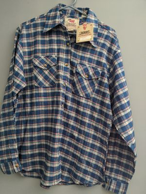 Levi's Woman's Blue Plaid shirt, size medium for Sale in South Attleboro, MA