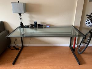 Large Glass Office Desk for Sale in San Francisco, CA