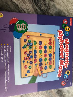 Magnetic alphabet maze for Sale in Tampa, FL