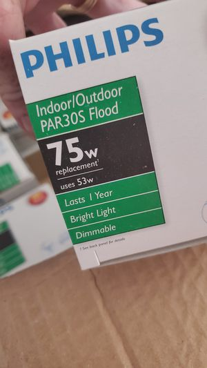 21 philips 75w indoor/outdoor lights for Sale in Puyallup, WA