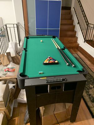 3 in 1 game table- Pool, Air Hockey, Ping Pong (excellent condition... only used a couple times) for Sale in Santa Monica, CA