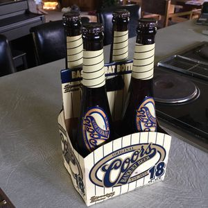 Coors Baseball Bat Bottles, Filled, Set of 4 in bottle carrier. for Sale in Jefferson Hills, PA