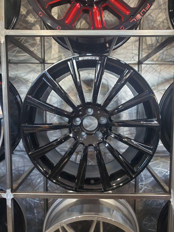 20x8.5 gloss black wheels fits Mercedes E class CLS and S class rim wheel tire shop