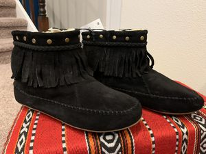 Lucky Brand Black Fringe Booties for Sale in Aurora, CO