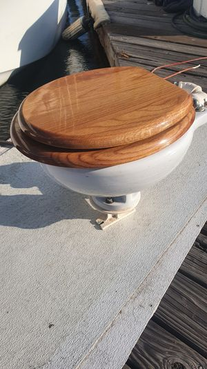 Dutch made electric porcelain marine head boat toilet for Sale in Wilmington, CA