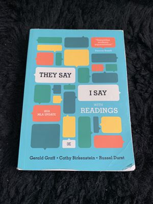 They Say, I Say - Book for Sale in Los Angeles, CA