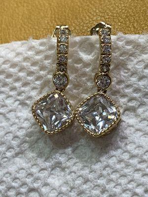 Sterling Silver 925 earrings gold plated for Sale in West Jordan, UT