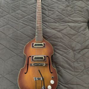1960's Beetle Bass Style Electric/Acoustic Guitar for Sale in Upland, CA