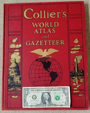 Vintage Collectible Collier Large World Atlas and Gazetteer 1939 for Sale in Auburn, WA