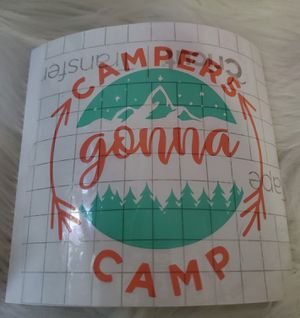 Campers gonna camp vinyl decal for Sale in Riverton, VA