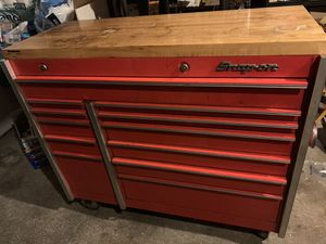 Snap On KR661 tool box with wood top for Sale in Tukwila, WA