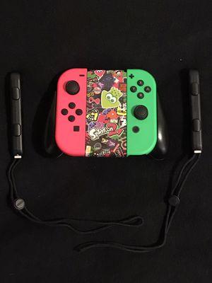 Nintendo Switch Joy-Cons with Joy-Con Grip Splatoon Edition for Sale in Phoenix, AZ