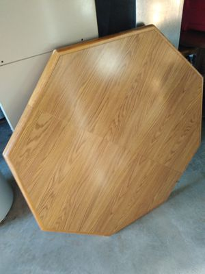Kitchen table with leaf and 4 rolling chairs for Sale in St. Louis, MO