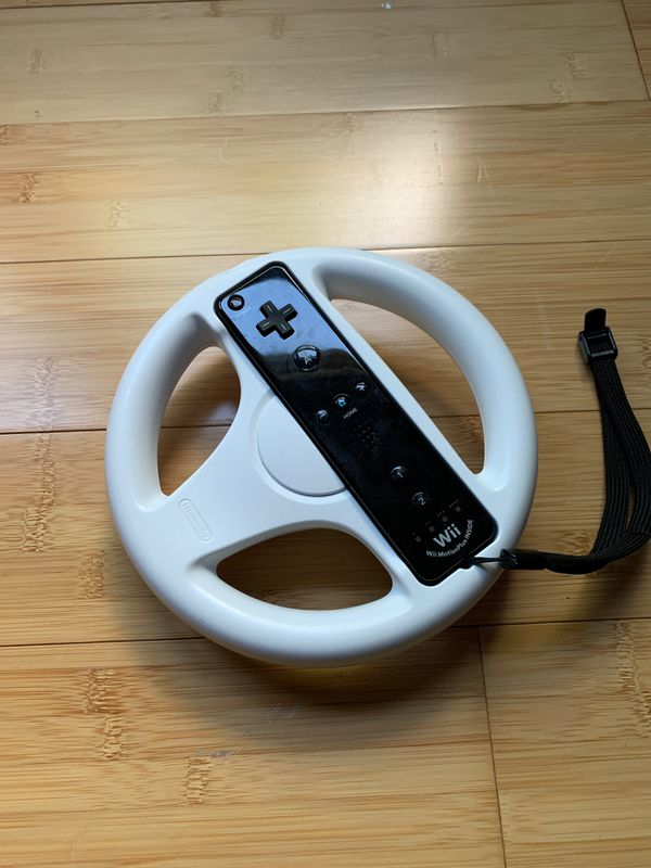 Wii Wheel with Wii Controller