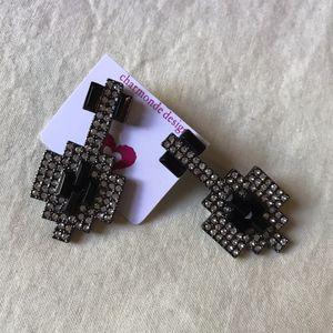 Black diamond stone earrings for Sale in Columbia, SC