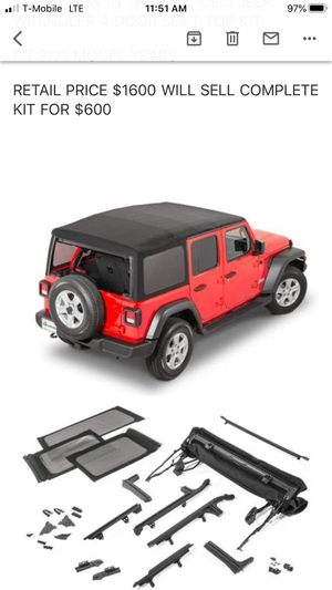 Jeep wrangler soft top. Oem top for Sale in Lincoln Acres, CA